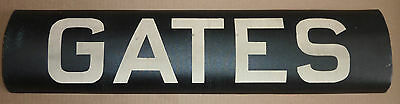 1940's Antique New York City Subway Trolley Destintion Roll Sign GATES