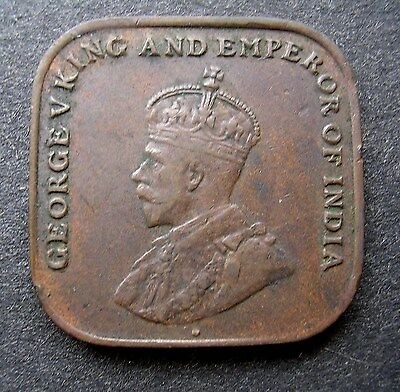 High Grade 1919 Straits Settlements, Malaysia Square 1 Cent