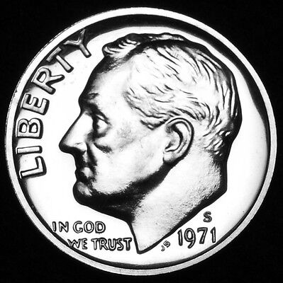 1971 S Roosevelt Mint Proof Dime ~ U.S. Coin from Original Proof Set