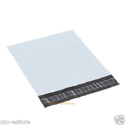 """50 White Poly Mailers Envelopes Mailing Bags 4.3"""" x 7""""_110 x 180+45mm"""