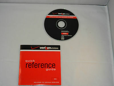 "Verizon Wireless Quick Reference Guide Lg Pc5740 - Booklet & Cd ""new"""