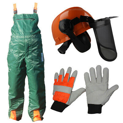 Chainsaw Safety Protection Bib Brace Trousers Gloves Helmet Kit Many Sizes