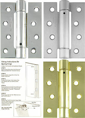 "Single Action Self Closing Fire Door Spring Hinge 4"" Inch 100mm"