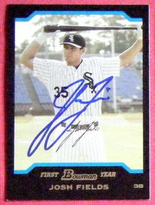 Josh Fields Chicago White Sox 2004 Bowman Draft Signed Card