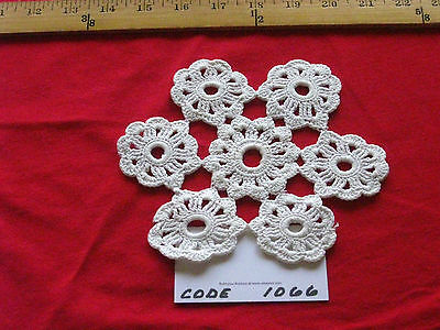 Vintage White and Pink Crotched Doily