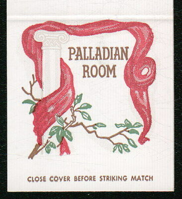 WASHINGTON DC Palladian Room Shoreham Hotel Vtg Restaurant Match Book Cover Old