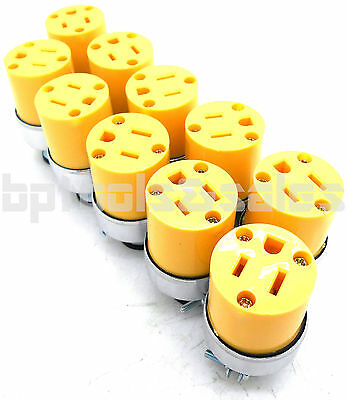Lot of 10 FEMALE Extension Plugs 15AMP 125V Replacement Extension Cord Plugs