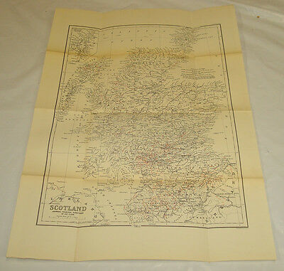 1877 Antique Map/SCOTLAND, SHOWING DIRECTIONS OF GLACIAL ICE FLOW/14x19.5