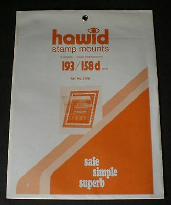Hawid Stamp Mounts Size 193/158d CLEAR Background Pack of 8