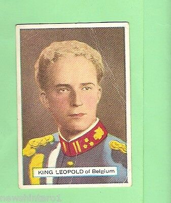AUSTRALIAN LICORICE CARD - NOTABLE PERSON #35 of 77, KING LEOPOLD III, BELGIUM
