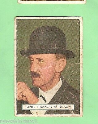 AUSTRALIAN LICORICE CARD - NOTABLE PERSON #32 of 70,  KING HAAKON, NORWAY