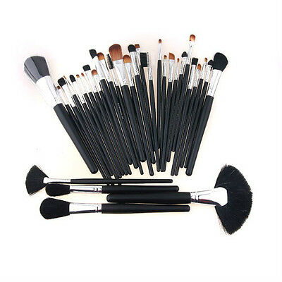 32 Pcs Professional Makeup Eyebrow Shadow Cosmetic Brush Set Kit Case With Pouch