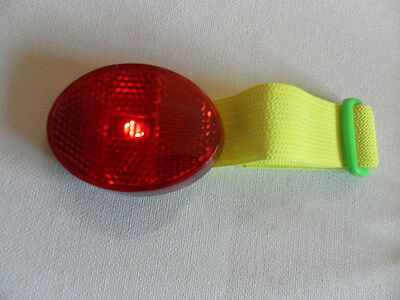 Dog Pet Collar Flashing or Constant Red LED Light Reflective