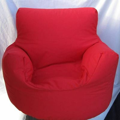 Cotton Red Beanbag Arm Chair Seat With Polystyrene Beans Filling*