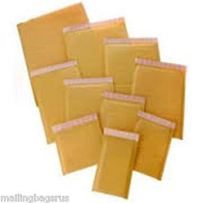 100 Gold Padded Bubble Bag Envelope 105mmx165mm