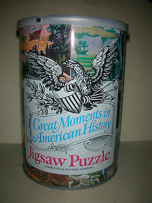 Vintage Humble Oil Great Moments in American History Jigsaw Puzzle - Washington