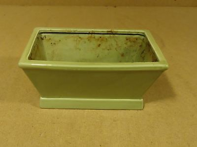 Handcrafted Colored Planter 10in x 7in x 4in Green Ceramic