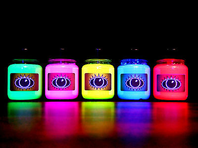 Buy UV Paint Set Of UV Paints Ultra Bright Colours Green Pink Yellow Blue Red