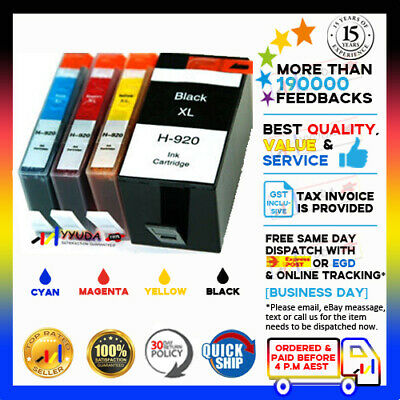 8 Ink Cartridge w CHIP 920 920XL for HP OfficeJet Printer 6000 6500 7000 PRINTER