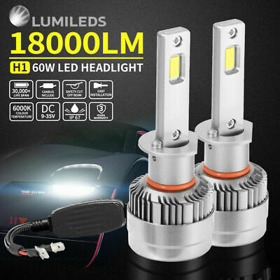 H4 LED Headlight Bulb Kits 180W 18000LM High Low Beam replace Halogen Xenon