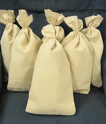 "6 Canvas Bank Coin  Money Sacks  Bag 9"" By 17.5"" Deposit Change Bags Transit"