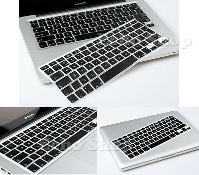 "UK Keyboard Keypad Silicone Cover Protector for Apple 15"" 15-inch Macbook Pro"