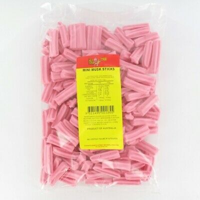 Mini Musk Sticks Pink 800g Pk1