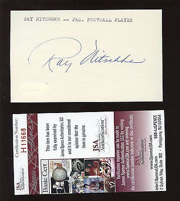Ray Nitchske Signed / Autographed Index Card JSA