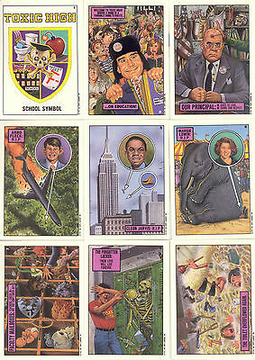 Toxic High School 1991 Topps Complete Base Card Set Of 88 Sf
