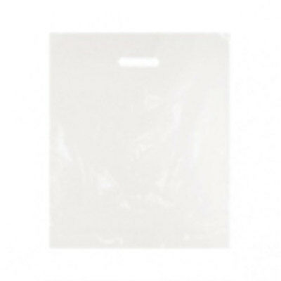 """500 Plastic Carrier Bags White 15""""x18"""""""