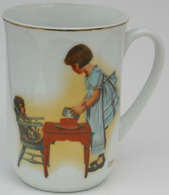 Norman Rockwell Party Time Porcelain Cup/ Mug 1981