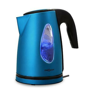 2200W Oneconcept Wasserkocher Blau Tee Kaffee Water Kocher Blue-Led Cool-Touch