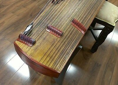 "57"" Concet Travel 21-String Rosewood Guzheng, Chinese Zither Harp Instrument"