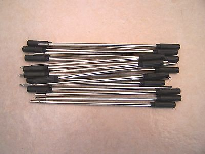 10 CROSS Type Ballpoint Pen Refills - BLACK med