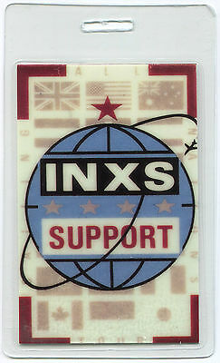 INXS 1987 Calling All Nations Tour Laminate Backstage Pass!!! concert stage OTTO