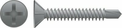 10-24 x 50mm Galvanised Countersunk Head Self Drilling Screws 500pc Metal/Steel