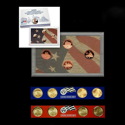 2009 P+D+S Lincoln Proof Set with Box and COA & Satin Mint Strips