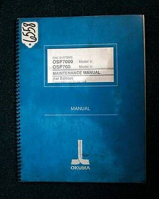 Okuma Maintenance Manual for CNC Systems Model U OSP7000L OSP700L