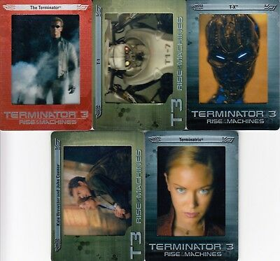TERMINATOR 3 RISE OF THE MACHINES 2003 ARTBOX FACTORY PREVIEW FILMCARD SET OF 5