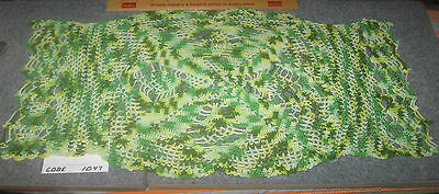 Vintage Varigated Green Crocheted Doily Lot#1047