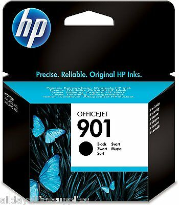 HP 901 / No.901 Black Ink Cartridge CC653A Original Boxed New, UK VAT INCLUDED