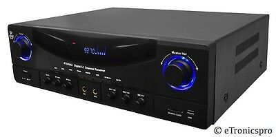 Pyle 350W 5.1Ch Digital Home House Theater Power Amp Amplifier Receiver Usb Sd
