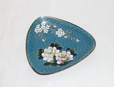 Inaba Cloisonne Enamel Unsigned Blossoms Plate Tray