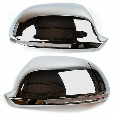 CHROME SET WING DOOR MIRROR COVERS FOR Audi A6 2008-2010 Pair