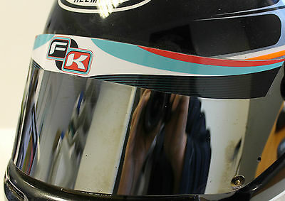 Formula K Style Helmet Visor Sticker/strip - Karting