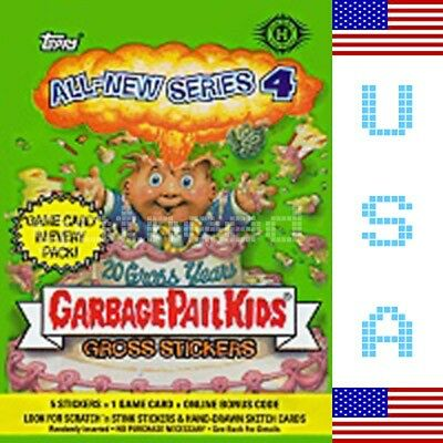 2005 USA Garbage Pail Kids ALL NEW SERIES 4 COMPLETE Set in Box - ANS
