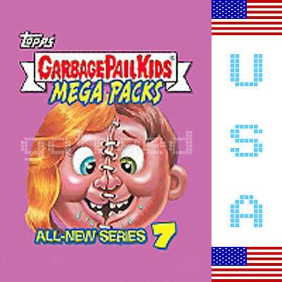 2007 USA Garbage Pail Kids ALL NEW SERIES 7 COMPLETE Set in Box - ANS