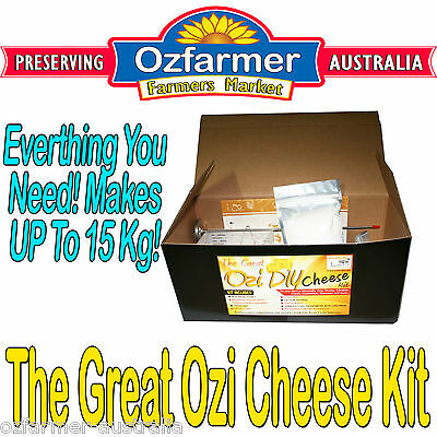 1 x Ozi Homemade Cheese Making  Kit  DIY Cheddar Fetta Mozarella Haloumi etc.