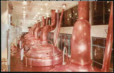 MILLER BREWING COMPANY Copper Brew Kettles Vintage Beer Advertising Postcard