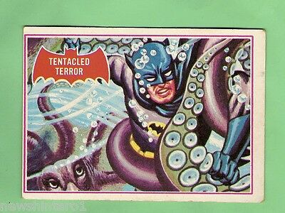 Scanlens 1966 Batman Red Bat Card #8A  Tentacled Terror